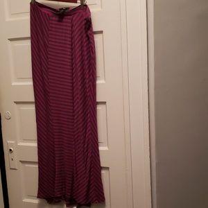 Ladies large stripe maxi skirt